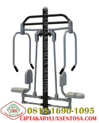 Chest Press Two Seats, alat fitness outdoor, jual alat fitness outdoor, harga alat fitness outdoor, distributor alat fitness