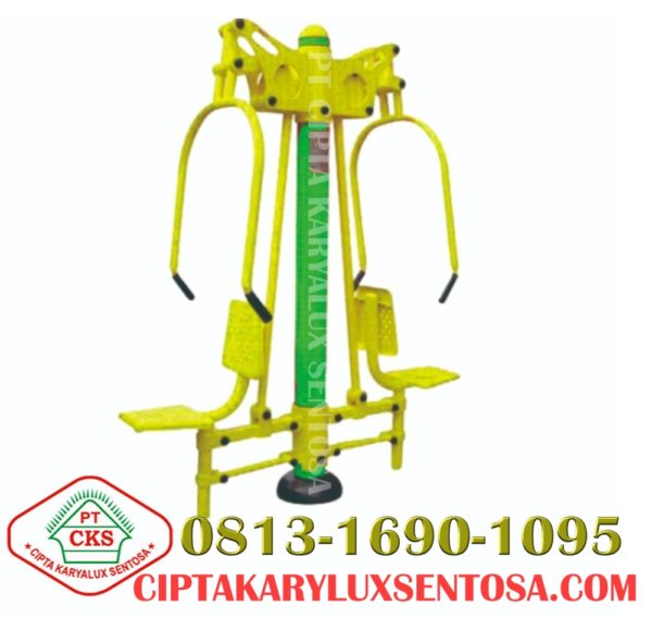 Chest Press Two Seats outdoor, alat fitness outdoor, jual alat fitness outdoor, harga alat fitness outdoor, distributor alat fitness