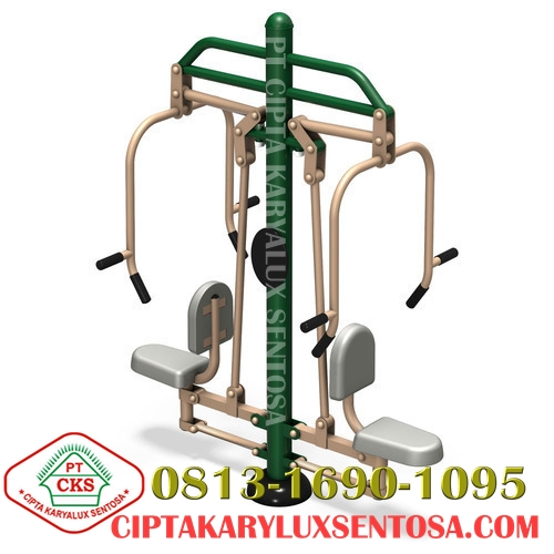 Chest Press Two Seats, outdoor gym, alat fitness outdoor, jual alat fitness outdoor, harga alat fitness outdoor, distributor alat fitness